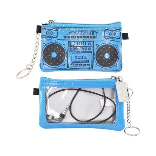 Original Fydelity Universal Le Boom Box Pocito Phone/ MP3 Case w/ Built-In Speaker (3.5mm), 87033 - Turquoise/ Black