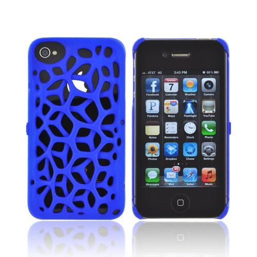 OEM Freshfiber Apple iPhone 4/4S Textured Nylon Hard Case - Blue Macedonia