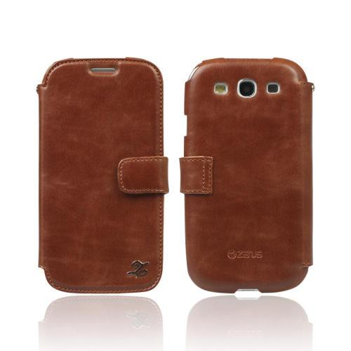 OEM Zenus Samsung Galaxy S3 Masstige Heritage Leather Diary Case w/ ID Slots - Brown