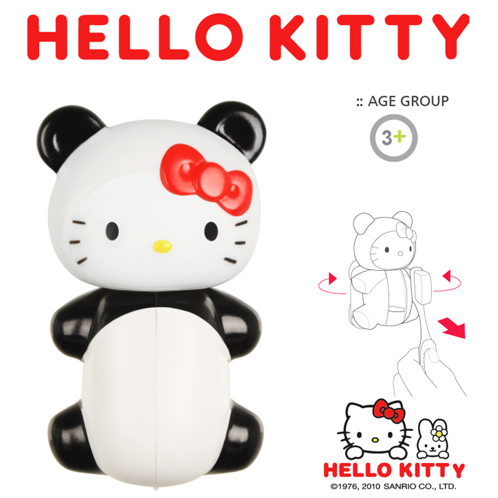 Officially Licensed Sanrio Panda Hello Kitty Flipper Toothbrush Holder