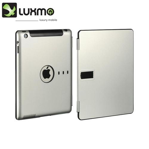 OEM Luxmo Apple iPad (2nd & 3rd Gen.) Aluminum Stand Case w/ Sleeper Function - Silver/ Black
