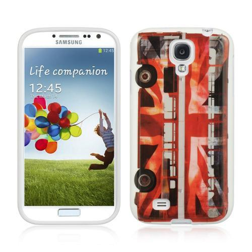 Red Double Decker Bus IMD Crystal Silicone Skin Case for Samsung Galaxy S4