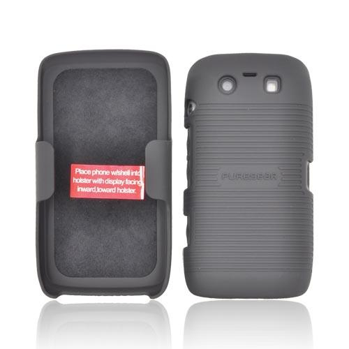 Original PureGear Blackberry Torch 9850 Rubberized Hard Shell Case w/ Holster, 88637VRP - Black