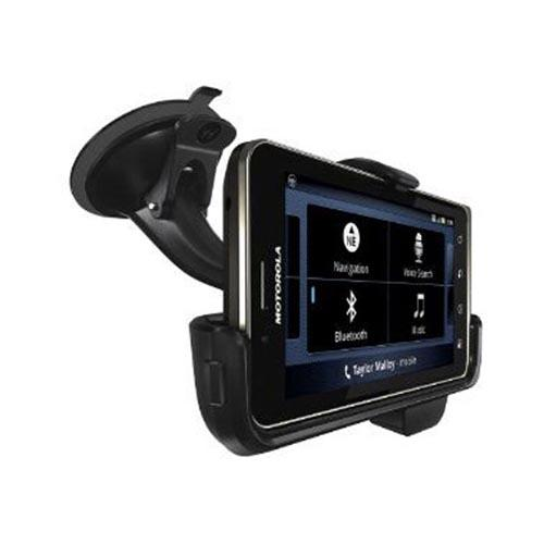 Original Motorola Droid Bionic Vehicle Navigation Dock w/ Micro USB Port & 3.5mm Audio Out Port, 89499N - Black