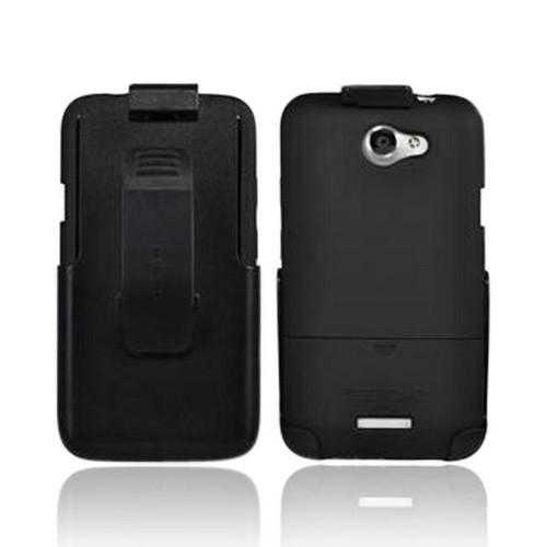 Seidio HTC One X Surface Combo Rubberized Hard Case w/ Holster - Black