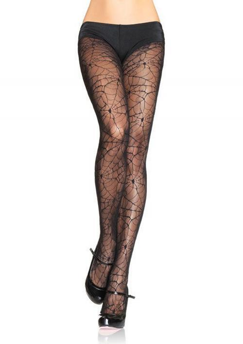 LegAvenue Costume Spandex Spiderweb Lace Pantyhose - Black,One Size 9009