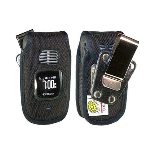 Original TurtleBack Premium Kyocera DuraCore Heavy Duty Pouch w/ Steel Swivel Belt Clip - Black