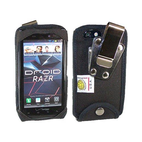 Original TurtleBack Premium Motorola Droid RAZR/ RAZR MAXX Heavy Duty Pouch w/ Steel Swivel Belt Clip - Black