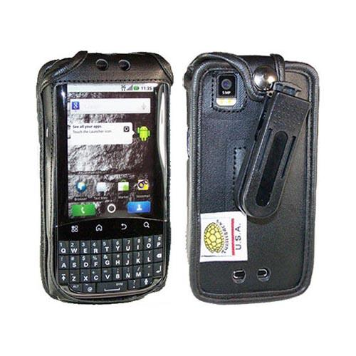 Original TurtleBack Premium Motorola XPRT MB612 Leather Pouch w/ Swivel Belt Clip - Black