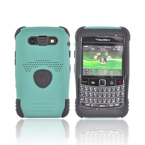 Original Trident Aegis Blackberry Bold 9780 9700 Hard Cover Over Silicone Case w/ Screen Protector, AG-BB-9780-BG - Green/Black