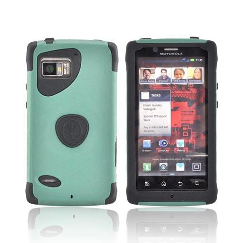 Original Trident Aegis Motorola Droid Bionic XT875 Hard Cover Over Silicone Case w/ Screen Protector, AG-BIO-BG - Green/ Black
