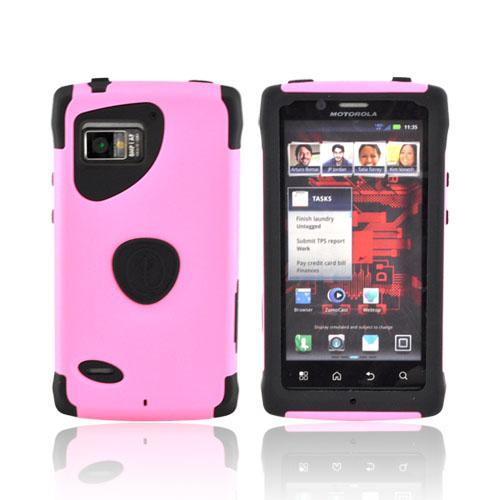 Original Trident Aegis Motorola Droid Bionic XT875 Hard Cover Over Silicone Case w/ Screen Protector, AG-BIO-PK - Pink/ Black