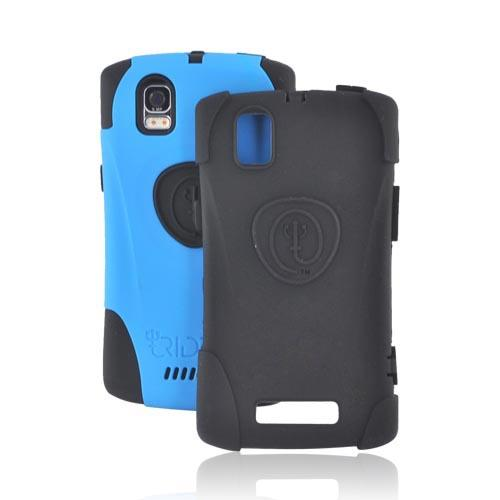 Original Trident Aegis Motorola XPRT MB612/ Droid Pro A957 Anti-Skid Hard Cover Over Silicone w/ Screen Protector, AG-DP-BL - Blue/ Black
