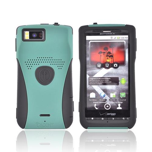 Original Trident Aegis Motorola Droid X Hard Cover Over Silicone Case w/ Screen Protector, AG-DX-BG - Green/Black