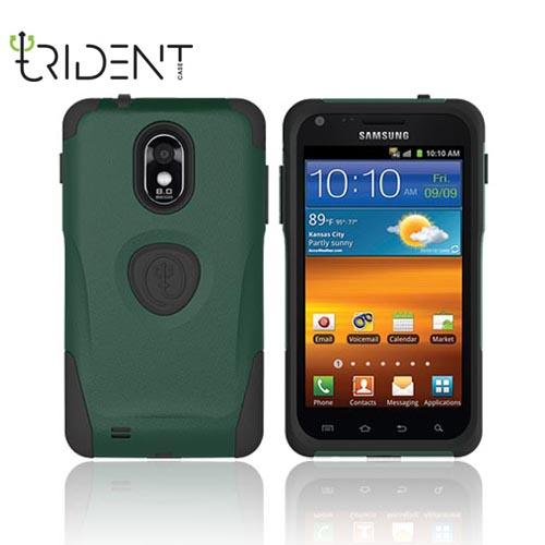 Original Trident Aegis Samsung Epic 4G Touch Anti-Skid Hard Cover Over Silicone Case, AG-EPIC-BG - Green/ Black