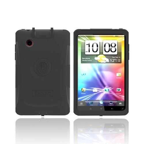 Original Trident Aegis HTC EVO View 4G/ HTC Flyer Hard Cover on Silicone Case w/ Screen Protector & Detachable Stylus Mount, AG-FLYER-BK - Black