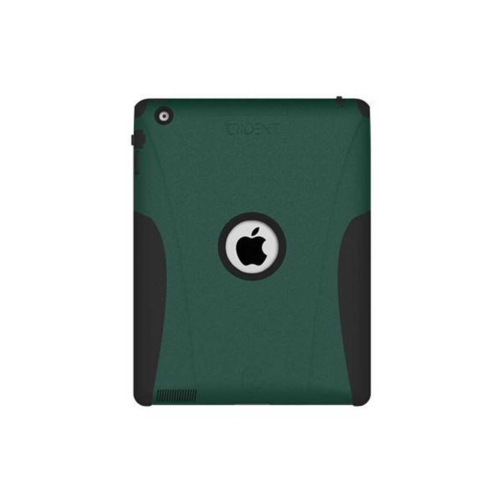 Original Trident Aegis Apple iPad 2 Hard Case Over Silicone w/ Screen Protector, AG-IPAD-2-BG - Green/ Black
