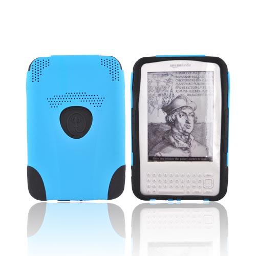 Original Trident Aegis Amazon Kindle 3 Hard Case Over Silicone w/ Audio Jack, AG-KND-BL - Blue/Black