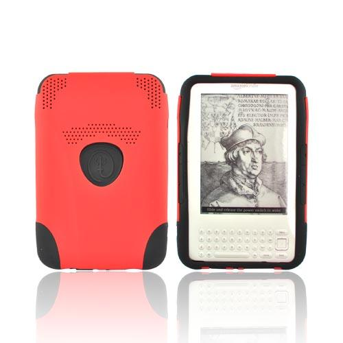 Original Trident Amazon Kindle 3 Aegis Hard Case Over Silicone w/ Audio Jack, AG-KND-RD - Black/Red