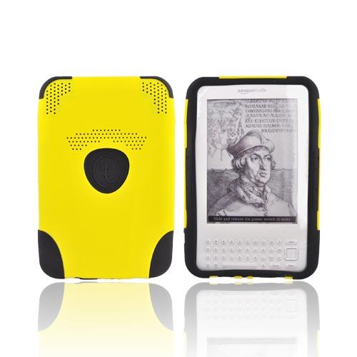 Original Trident Aegis Amazon Kindle 3 Hard Case Over Silicone w/ Audio Jack, AG-KND-YL - Yellow/Black