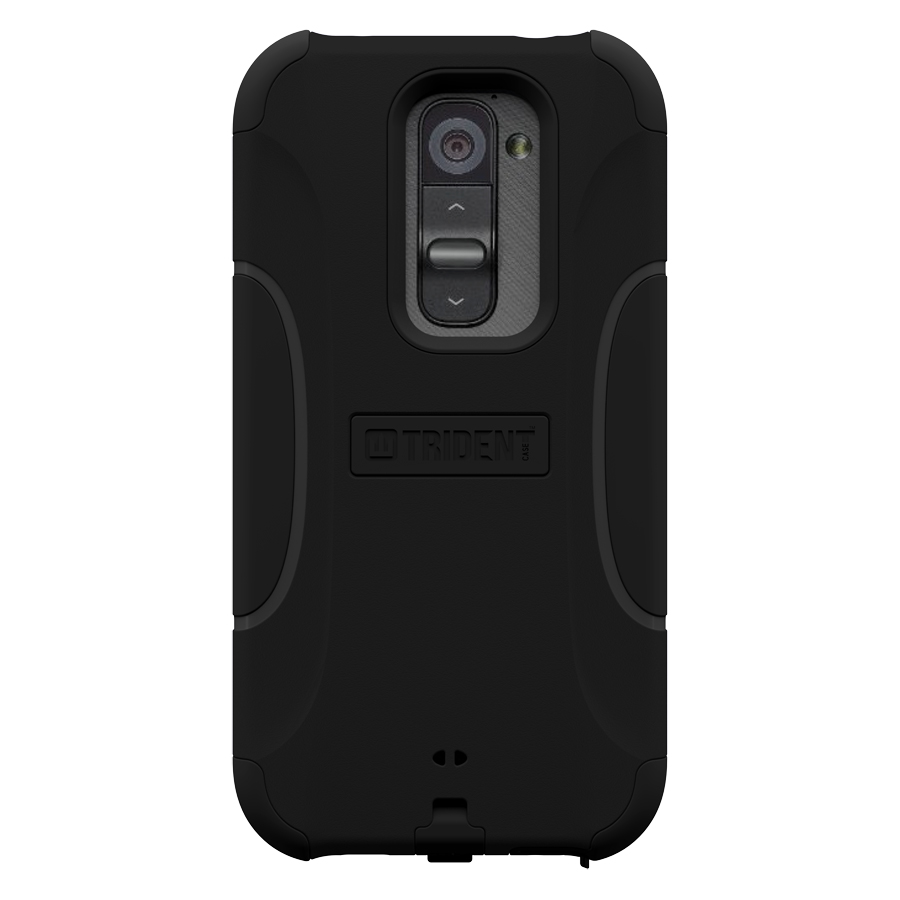 Trident Black Aegis Series Hard Cover on Silicone Case w/ Screen Protector for LG G2 (All Carriers) - AG-LG-G2-BK