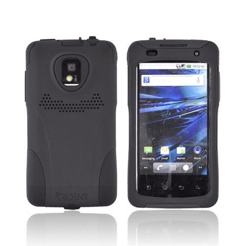 Original Trident Aegis T-Mobile G2X Anti-Skid Hard Cover Over Silicone Case, AG-LG-G2X-BK - Black