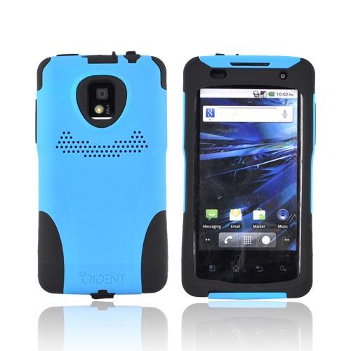 Original Trident Aegis T-Mobile G2X Anti-Skid Hard Cover Over Silicone Case, AG-LG-G2X-BL - Blue/ Black
