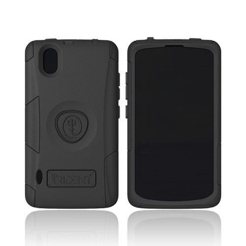 Original Trident Aegis LG Marquee Hard Cover Over Silicone Case w/ Screen Protector, AG-LG-LS855-BK - Black