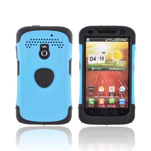 Original Trident Aegis LG Revolution, LG Esteem Hard Cover Over Silicone Case w/ Screen Protector, AG-LG-REV-BL - Blue/ Black