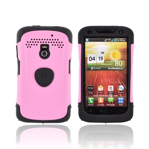 Original Trident Aegis LG Revolution, LG Esteem Hard Cover Over Silicone Case w/ Screen Protector, AG-LG-REV-PK - Pink/ Black