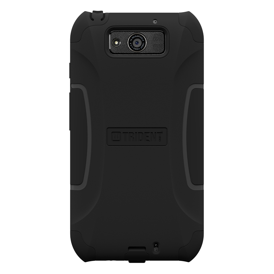 Trident Black Aegis Series Hard Cover on Silicone Case w/ Screen Protector for Motorola Droid Ultra - AG-MOT-ULTRA-BK