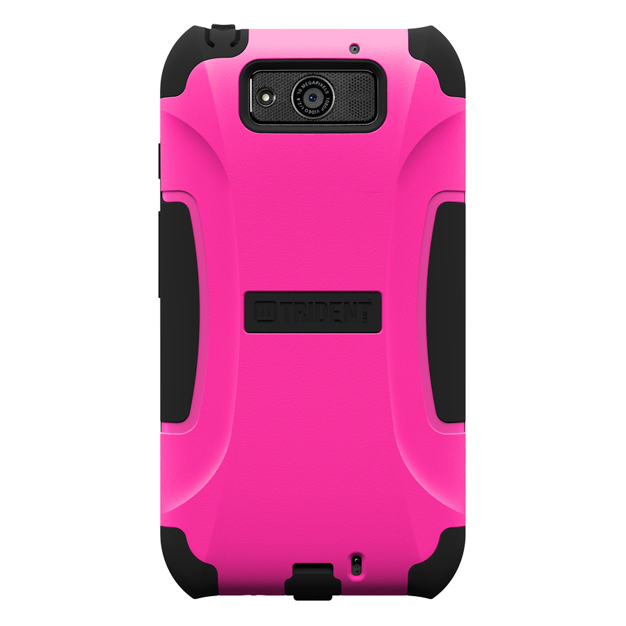 Trident Hot Pink/ Black Aegis Series Hard Cover on Silicone Case w/ Screen Protector for Motorola Droid Ultra - AG-MOT-ULTRA-PNK