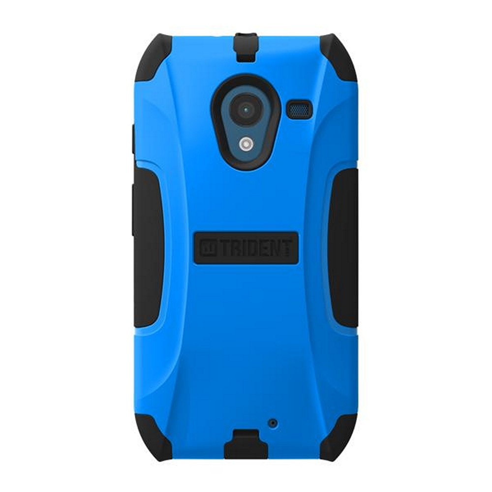 Trident Blue/ Black Aegis Series Hard Cover on Silicone Skin Case w/ Screen Protector for Motorola Moto X - AG-MOT-X-BLU
