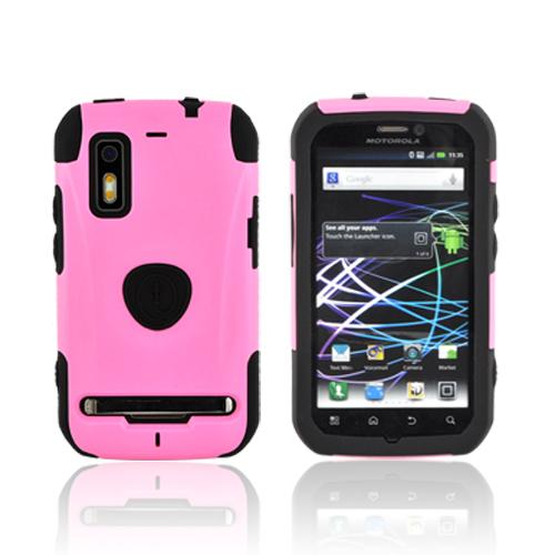 Original Trident Aegis Motorola Photon 4G Hard Cover Over Silicone Case, AG-PHTN-PK - Pink/ Black