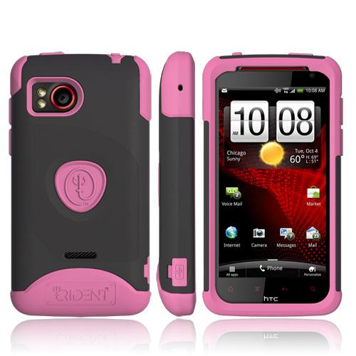 Original Trident Aegis HTC Rezound Hard Cover on Silicone Case w/ Screen Protector, AG-RZND-PK - Pink/ Black