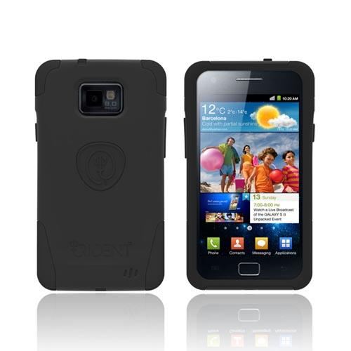 Original Trident Aegis AT&T Samsung Galaxy S2 Hard Cover Over Silicone Case w/ Screen Protector, AG-SGX2-BK - Black