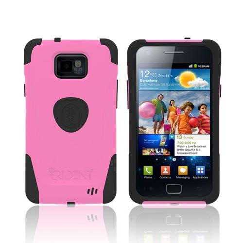 Original Trident Aegis AT&T Samsung Galaxy S2 Hard Cover Over Silicone Case w/ Screen Protector, AG-SGX2-PK - Pink/ Black