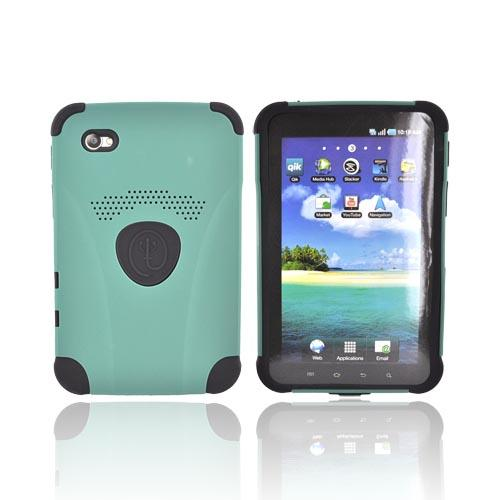 Original Trident Aegis Samsung Galaxy Tab P1000 Hard Case Over Silicone w/ Screen Protector, AG-SGXT-BG - Black/Green
