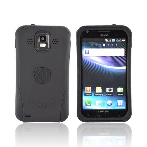 Original Trident Aegis Samsung Infuse i997 Rubberized Hard Cover Over Silicone Case w/ Screen Protector, AG-SINF-BK - Black