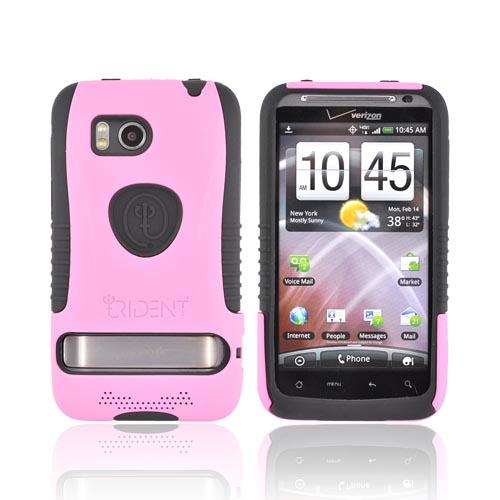 Original Trident Aegis HTC Thunderbolt Hard Cover Over Silicone Case w/ Screen Protector, AG-THDB-PK - Pink/Black