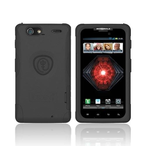 Original Trident Aegis Motorola Droid RAZR MAXX Hard Cover Over Silicone Case w/ Screen Protector, AG-XT912-BK - Black