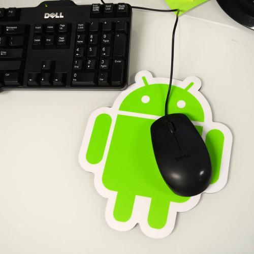 Original Android Foundry Green/White Plastic Surface Mouse Pad