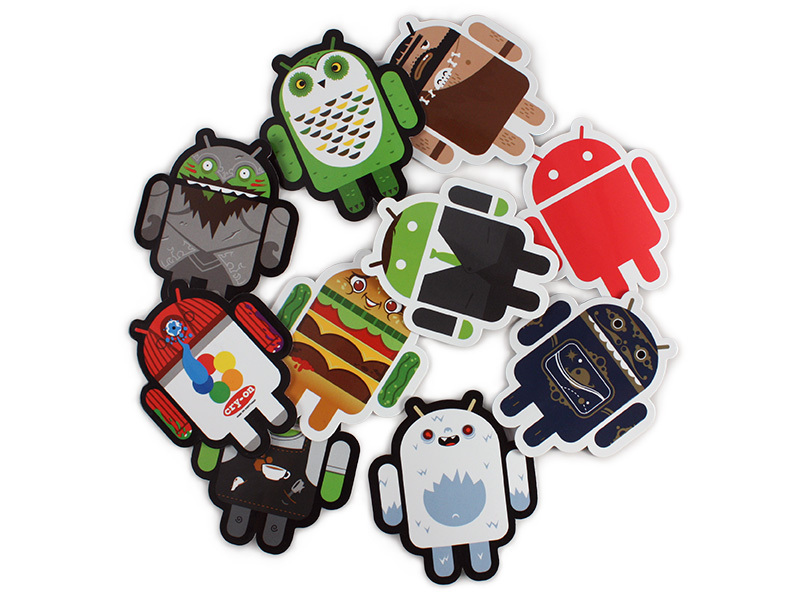 Original Android Foundry 10 Piece Sticker Set