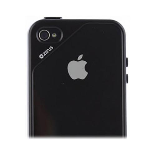 Original Zenus AT&T/ Verizon Apple iPhone 4, iPhone 4S Air Bumper Mask Hard Case w/ Screen Protector, APIP4-BB2BA-BKGY - Gray/ Black