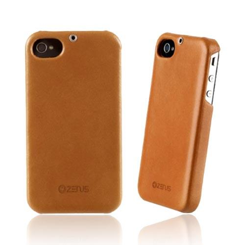 Original Zenus AT&T/ Verizon Apple iPhone 4, iPhone 4S E'stime Leather Bar Series Case, APIP4-ELLBA-GL - Gold Brown