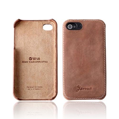 Original Zenus AT&T/ Verizon Apple iPhone 4, iPhone 4S E'stime Premium Vintage Leather Case, APIP4-ELVBA-BW - Vintage Brown