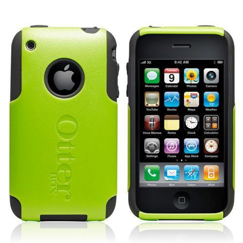 Original Otterbox Commuter Series Apple iPhone 3G/3Gs Hard Case w/ Screen Protector, APL-IPH3G-23-C5OTR - Lime Green/Black