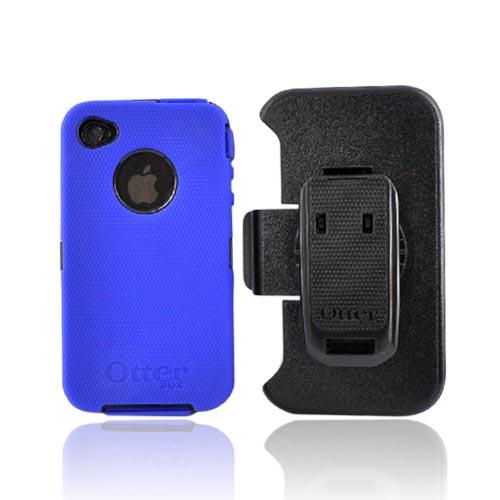 Original Otterbox Defender Apple iPhone 4 Case and Holster w/ Clip, APL2-I4XXX-46-E - Blue