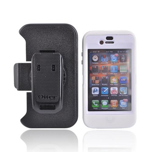 Original Otterbox Apple Verizon/ AT&T iPhone 4, iPhone 4S Defender Series Case w/ Holster, APL2-I4XXX-B5-E - White