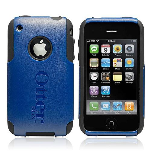 Original Otterbox Commuter Series Apple iPhone 3G 3GS Hard Case Over Silicone w/ Screen Protector, APL4-IPH3G-16-C5OTH - Navy Blue/ Black